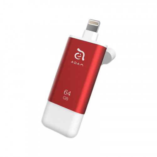 Adam elements - iKlips II 極速iPhone & iPad專用隨身碟64GB - 紅色